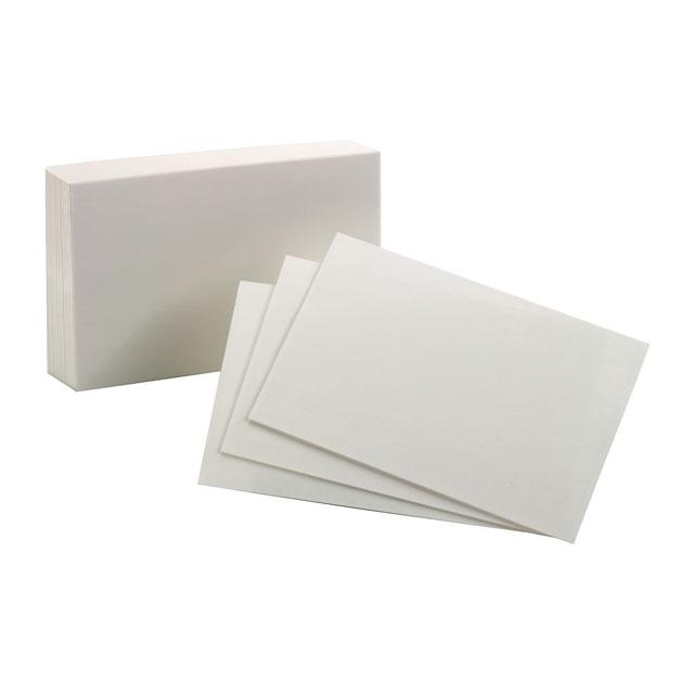 Index Cards: Plain