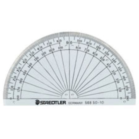 "Image For Protractor 4"" 180°"