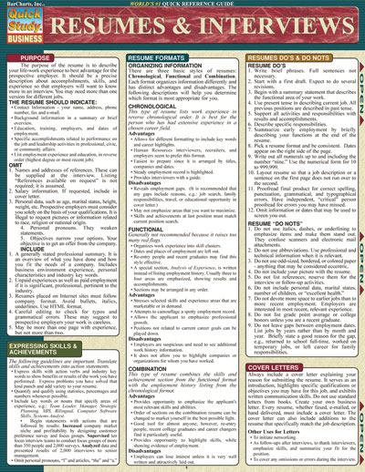 Image For Resumes & Interviews Quickstudy