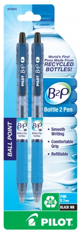 Image For Pilot B2P Retractable Ball Point Pens