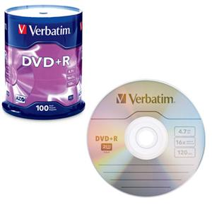 Image For Verbatim DVD+R 100 Pack 95098 (351)