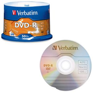 Image For Verbatim DVD-R 50 Pack 95101 (351)