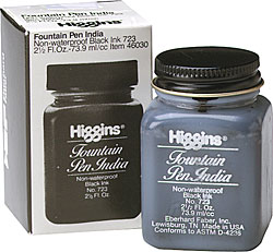 Image For Higgins Black Fountain Pen India Ink