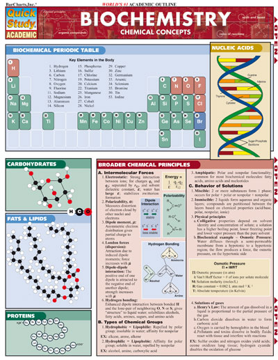 Image For Biochemistry Quickstudy