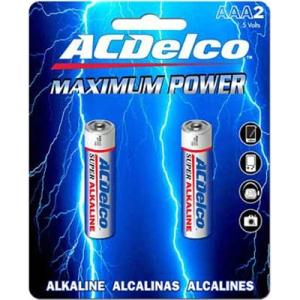 Image For AC Delco AAA Battery 2 Pack AC207AC (351)