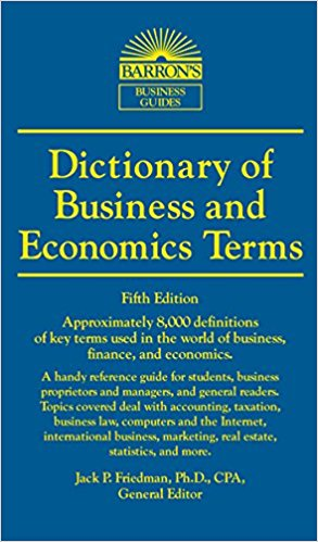 Image For Dictionary: Business and Economics Terms