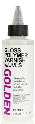 Image For Acrylic Medium: Gloss Polymer Varnish with UVLS Golden