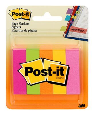 "Image For Post-It Page Markers 1/2"" x 2"""
