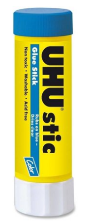 Image For Glue Stick UHU Washable Blue