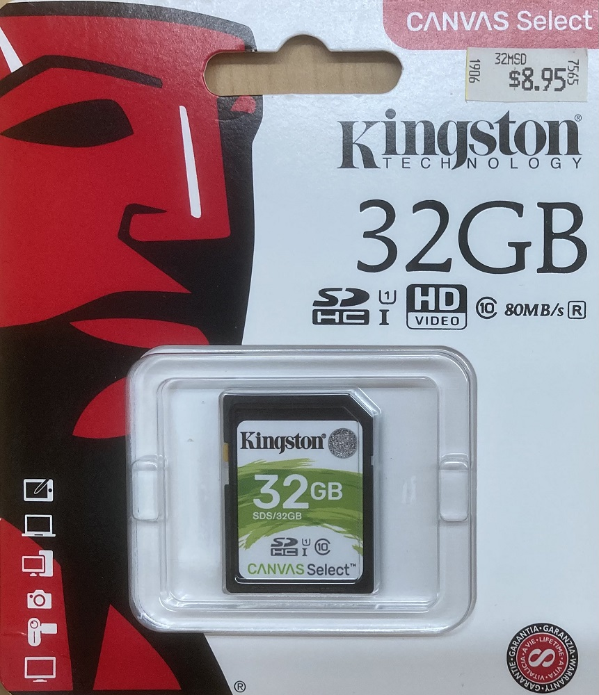 Image For Kingston 32GB SD HC Class 10 80MB/s Read SDS32GB (351)