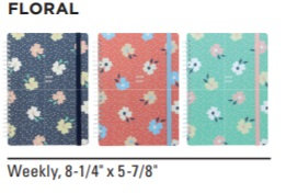 Image For ACADEMIC PLANNER 20-21 FLORAL
