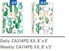Image For ACADEMIC PLANNER 20-21 WEEKLY CACTUS