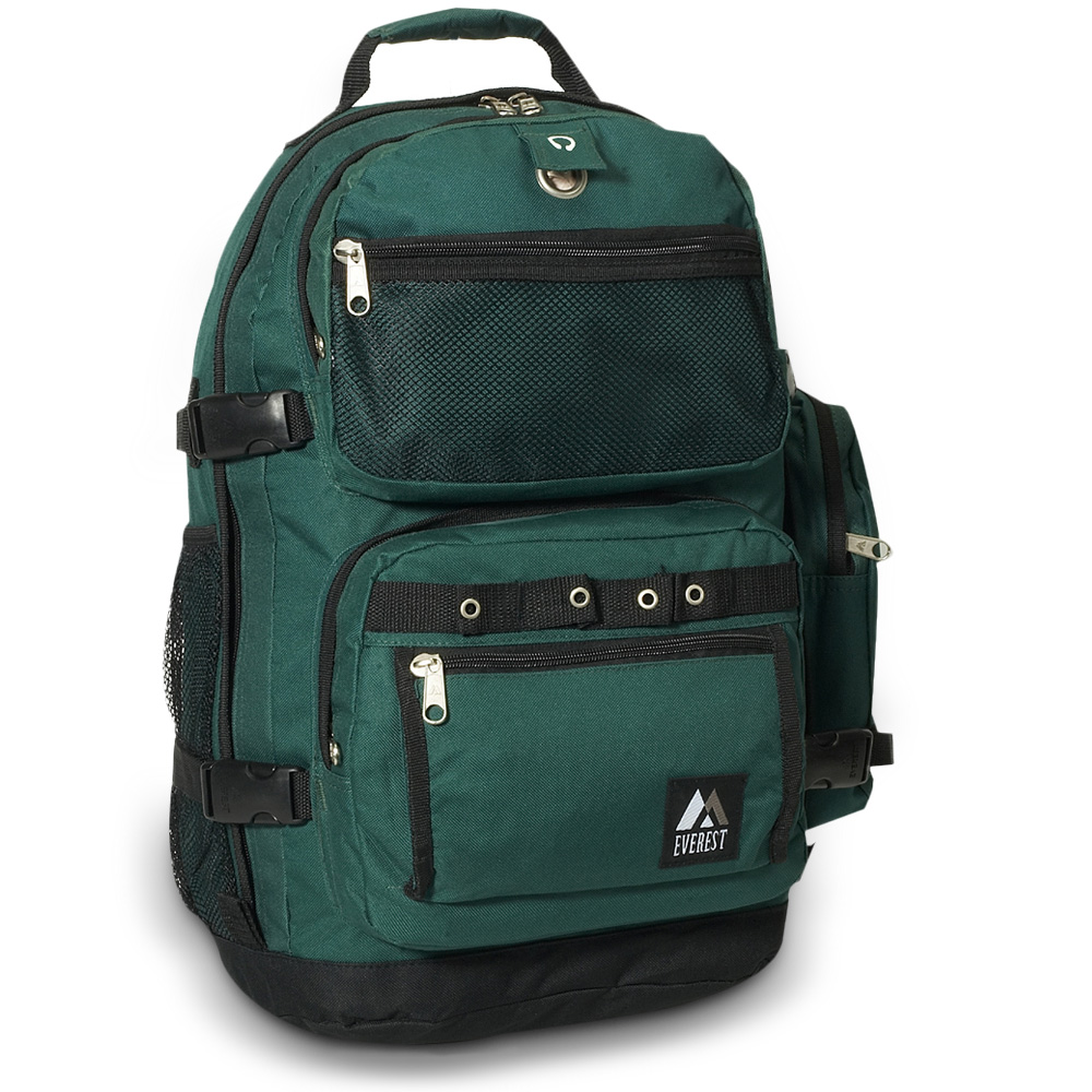Image For Everest Oversize Deluxe Backpack Dark Green 3045R (360)