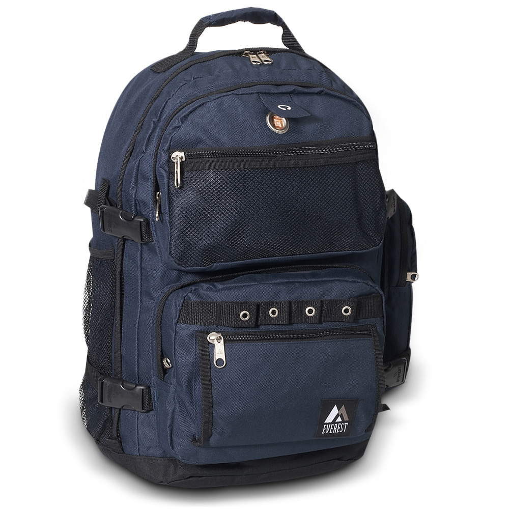 Image For Everest Oversize Deluxe Backpack Navy Blue 3045R (360)