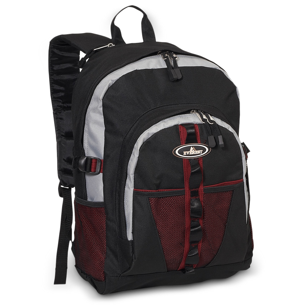 Image For Everest Dual Mesh Pocket Burgundy, Gray, Black 3045W (360)