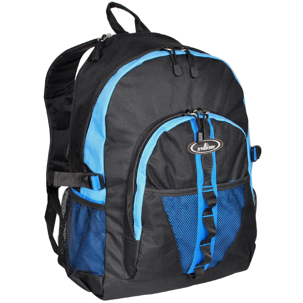 Image For Everest Dual Mesh Pocket Royal Blue, Blue, Black 3045W (360)