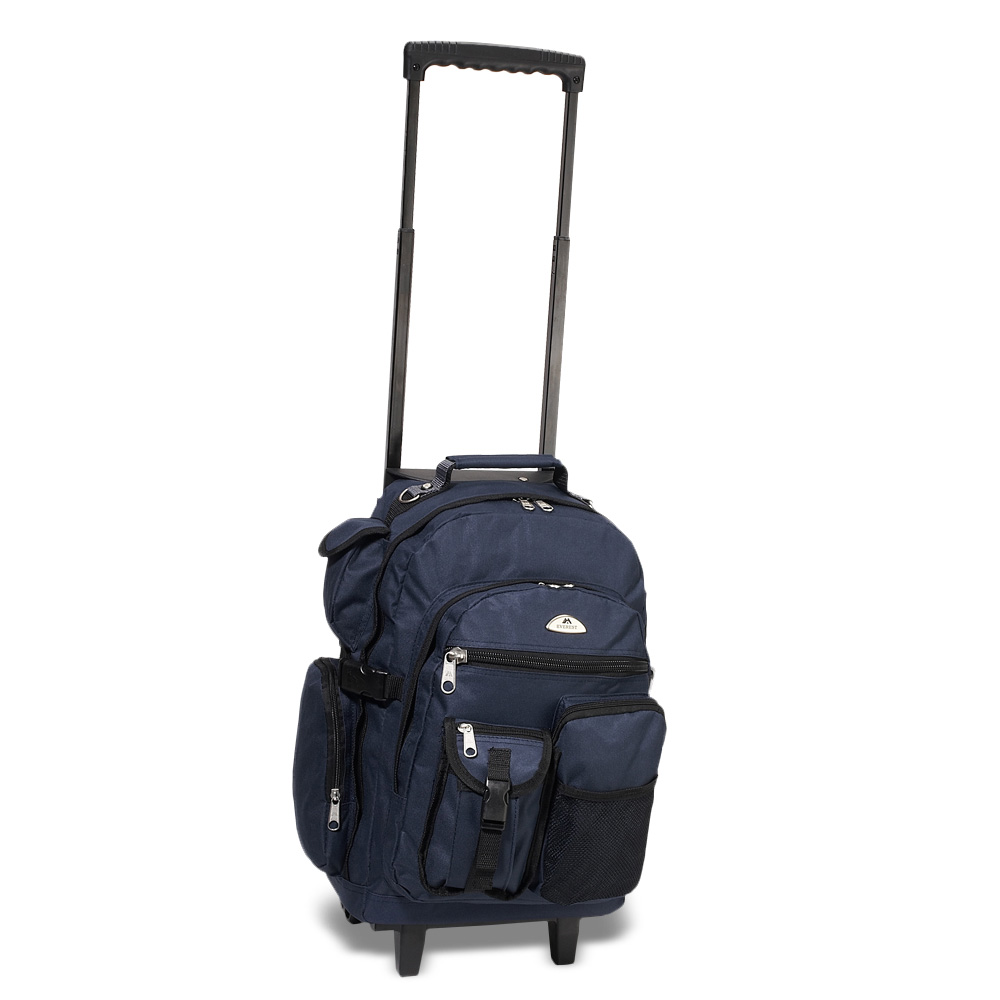 Image For Everest Deluxe Wheeled Backpack Navy 5045WH (360)