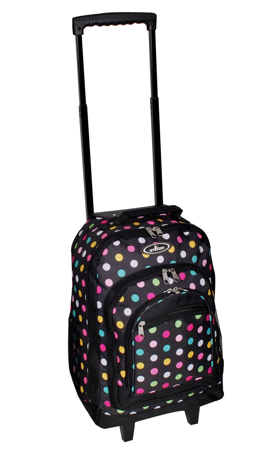 Image For Everest Wheeled Polka Dot Black 9045WH (360)