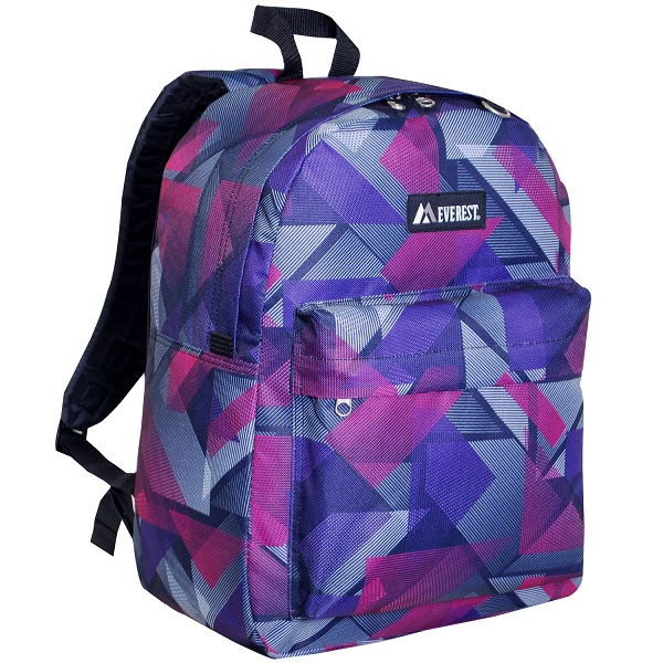 Image For Everest Pattern Geometric Backpack PUR/PNK 2045P (360)