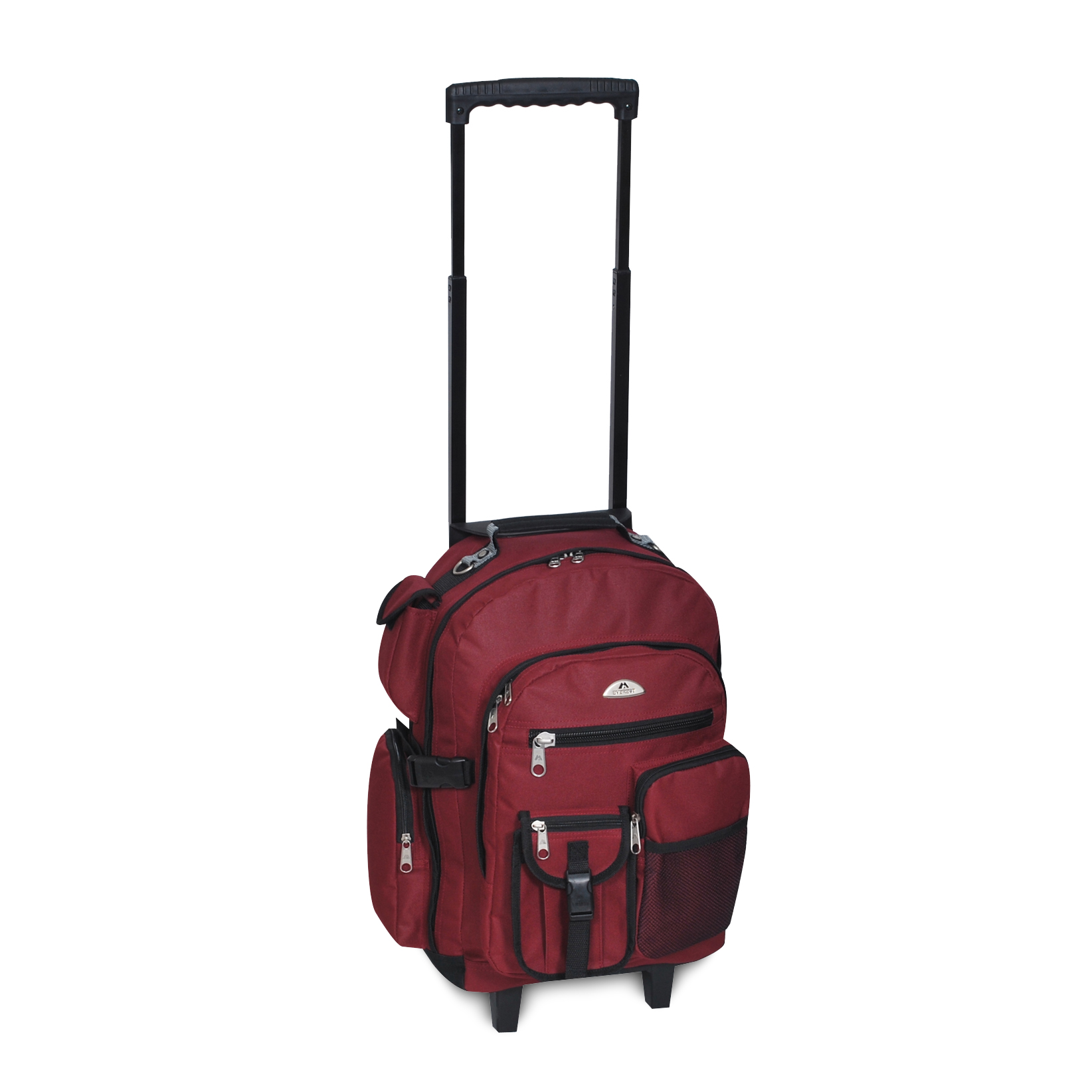 Image For Everest Deluxe Wheeled Backpack Burgundy 5045WH (360)