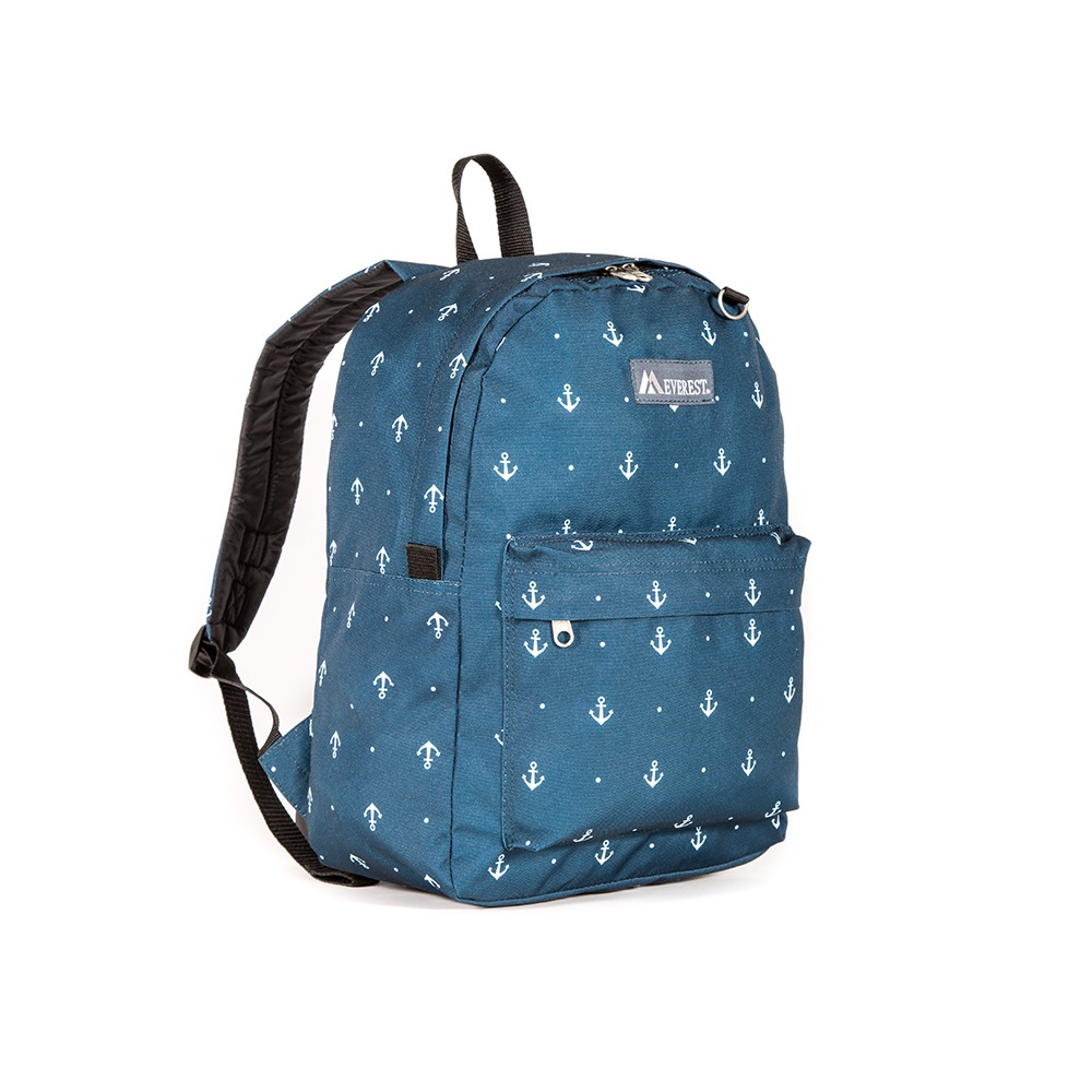 Image For Everest Pattern Anchor Backpack BLK 2045P (360)