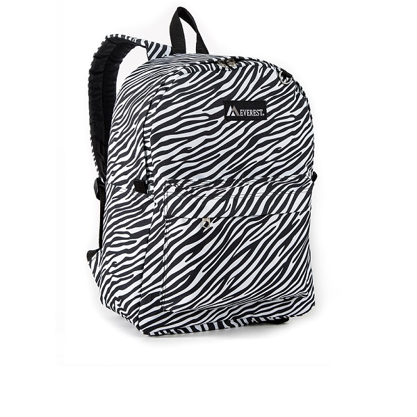 Image For Everest Pattern Zebra Backpack WHT/BLK 2045P (360)