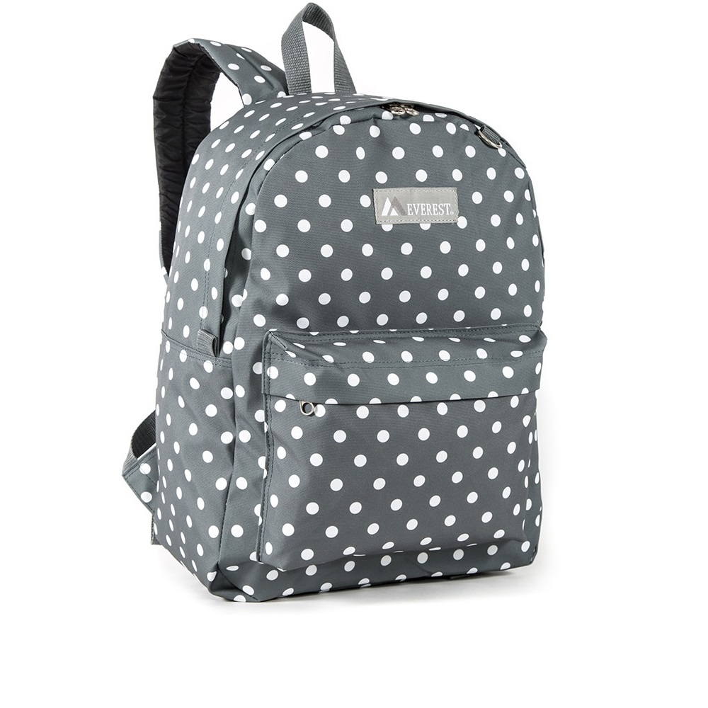 Image For Everest Pattern Polka Dot Backpack ORG/WHT 2045P (360)