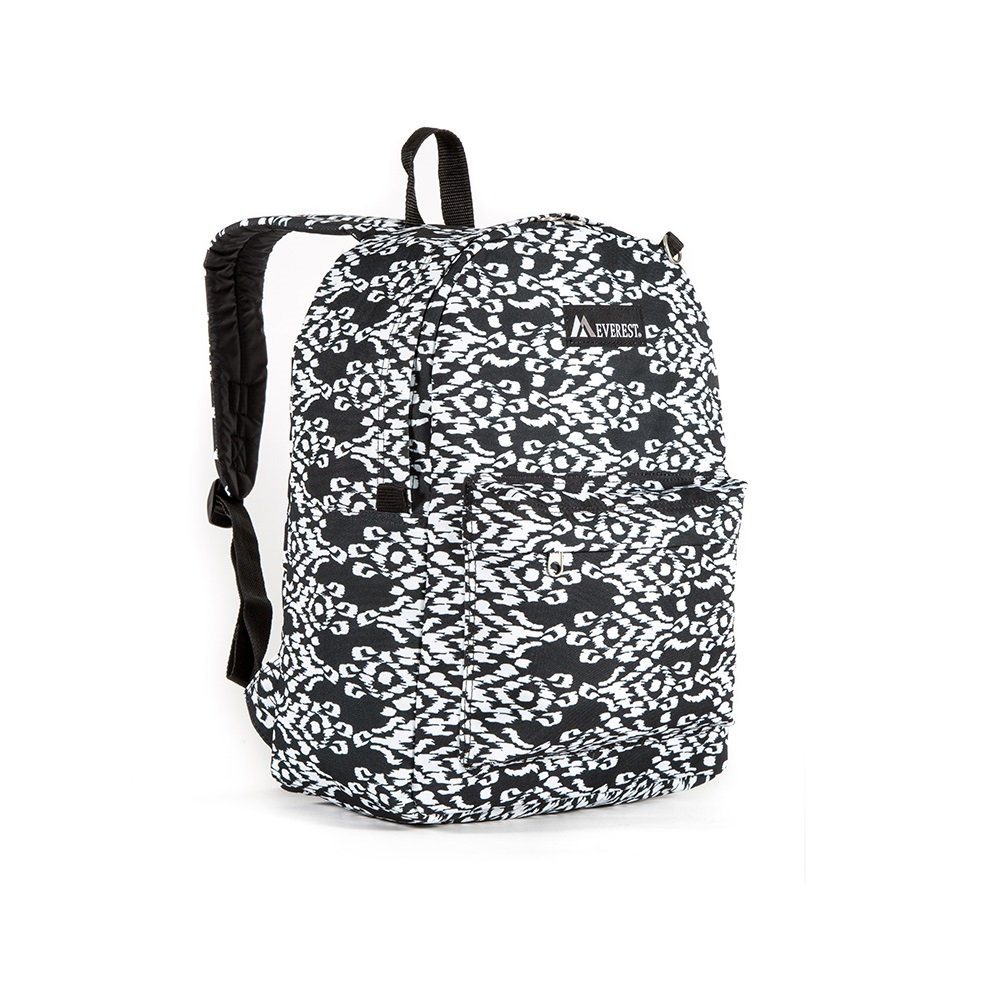 Image For Everest Pattern Ikat Backpack BLK/WHT 2045P (360)
