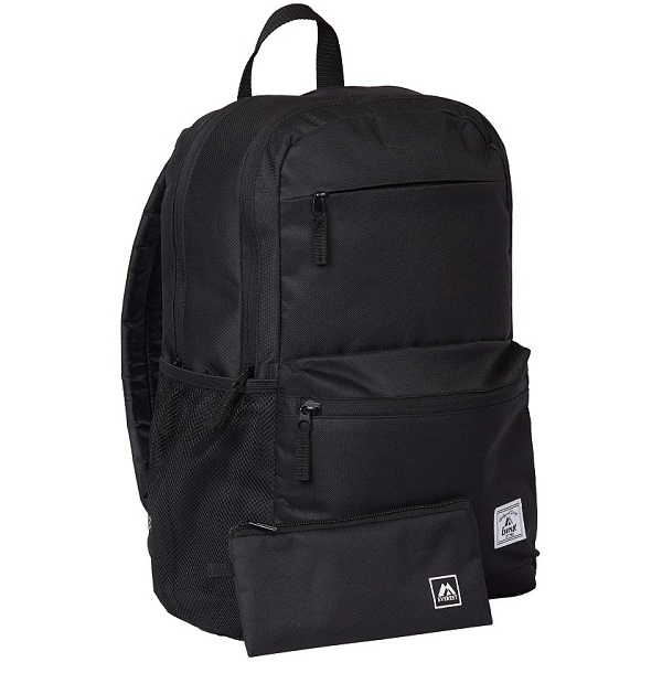 "Image For Everest Backpack 18""x12"" Black BP400LT-bk (360)"
