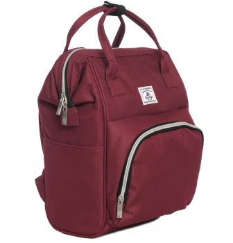 Image For Everest Mini Backpack Handbag Burgundy HP1100-burg (360)