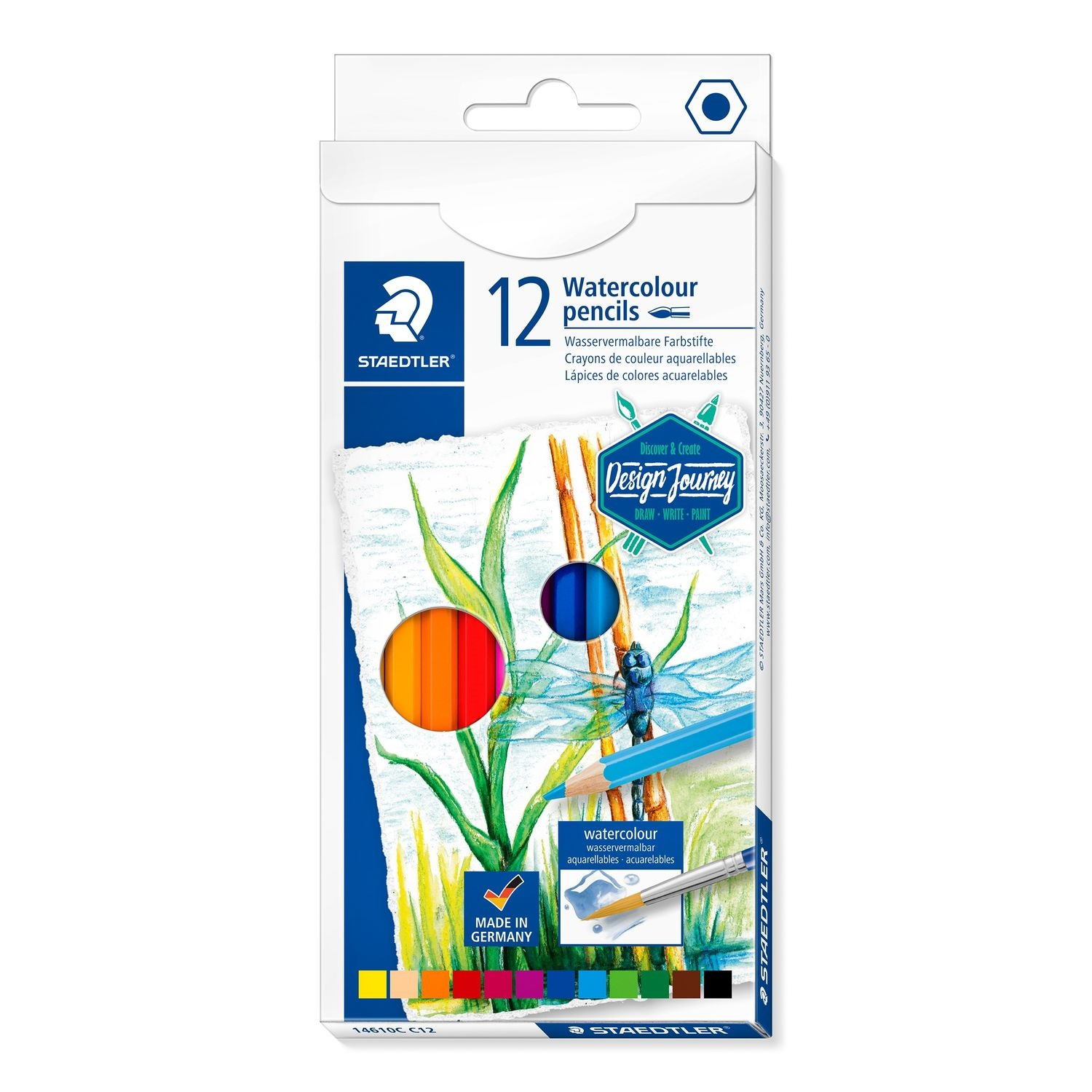 Image For WATERCOLOR PENCIL 12PK: STAEDTLER