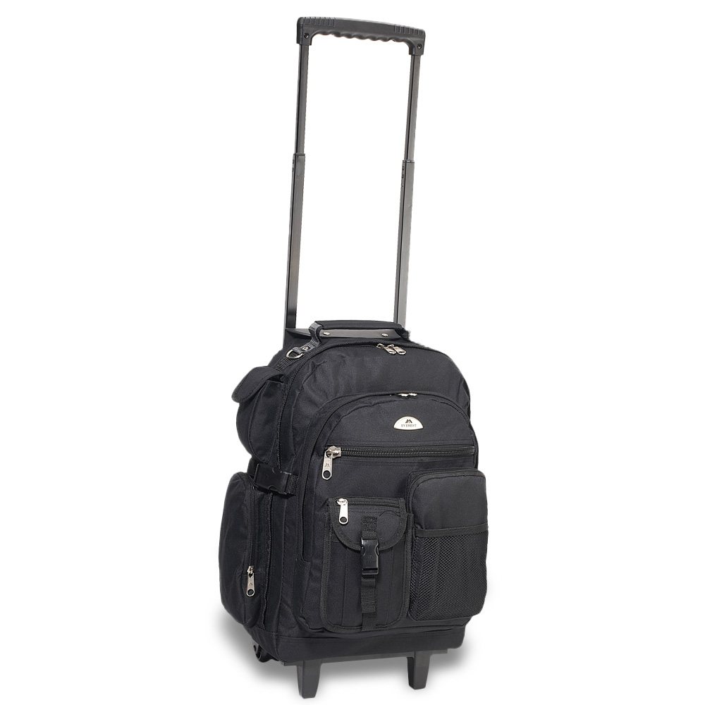Image For Everest Deluxe Wheeled Backpack Black 5045WH (360)