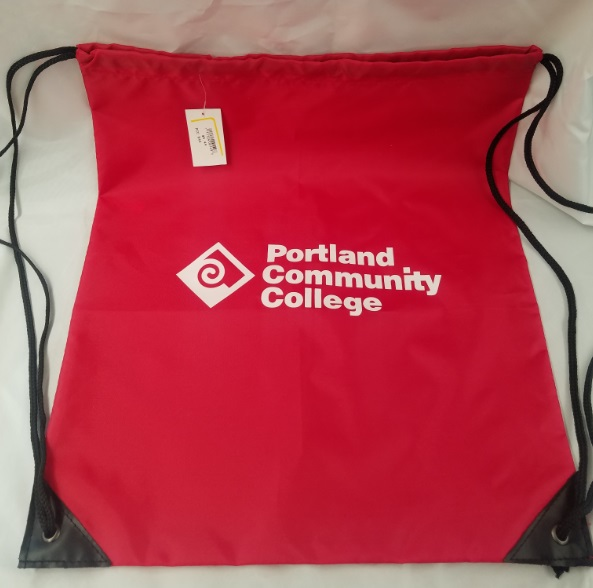 Image For Draw String PCC LOGO Bag 14x18 red, black or navy (400)