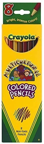 Image For Crayola Colored Pencils, Multicultural, 8 Count