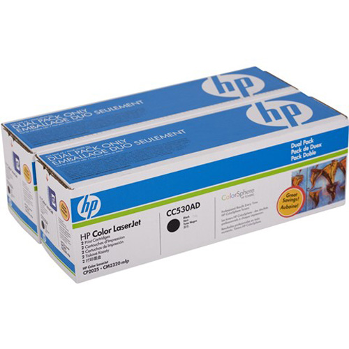 Image For Hewlett-Packard 304A Toner Twin-Pack CC530AD CC53000903(754)