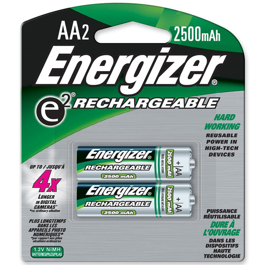 Image For Energizer AA Rechargeable Battery 2 Pack NH15BP2 (351)