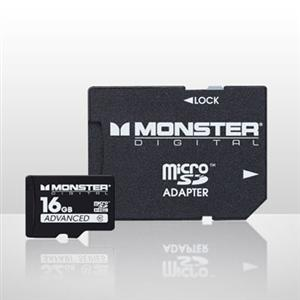Image For Monster 16GB Micro SD SDUSA0016B (351)