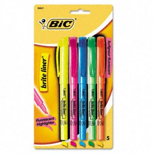 Image For Highlighters: Bic Brite Liner 5pk