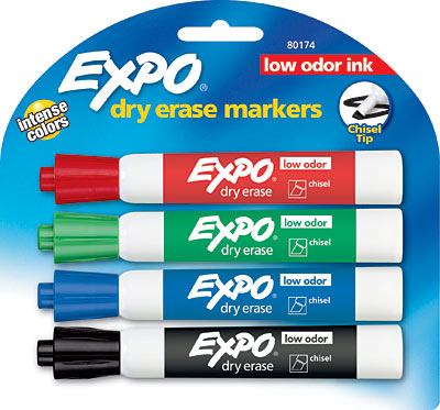 Image For Dry Erase: Expo Low Odor Chisel Point