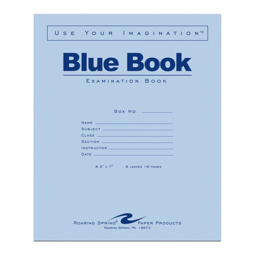 Image For Blue Book
