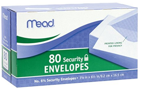 Image For Security Envelopes #6 3/4