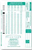 Image For Scantron Answer form 815E