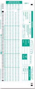 Image For Scantron Answer Form 882