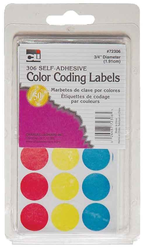 Image For LABEL COLOR DOTS