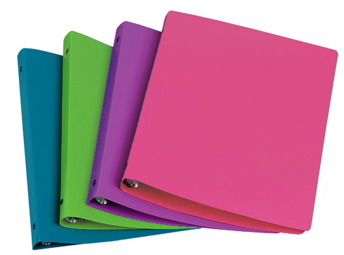 Image For Poly Binder Fashion Colors