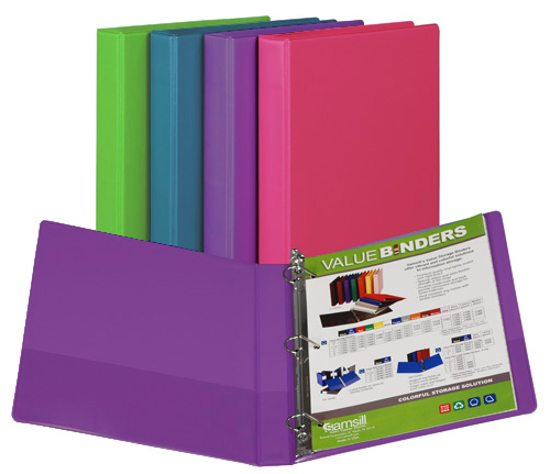 Image For D-Ring Binder Fashion Colors