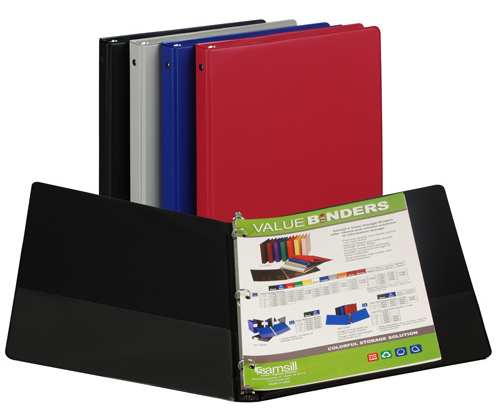 Image For Round Ring Binder Basic Colors